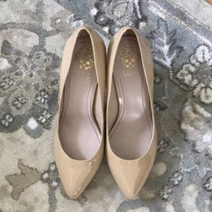 Vince Camuto Nude Patent Leather Heels